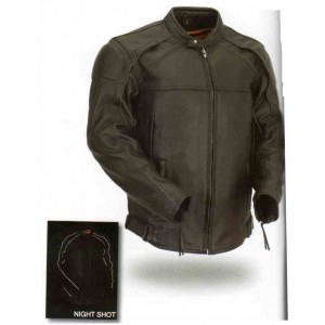 Men's Vented Scooter Jacket with Blacked out reflective piping