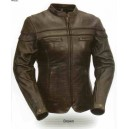 Women's Sporty Scooter Jacket-Brown