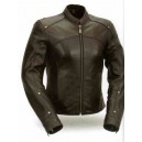 Women's Shape Accentuating Jacket in Black Leather