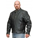 Men's Vented Racing Jacket in Naked Leather from Vance
