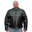 Men's Reflective Scooter Jacket in Naked Leather