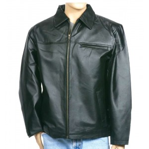 Men's Jean Style Leather Shirt