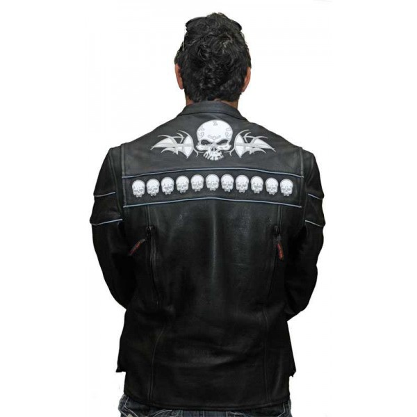 Skull Leather Jacket from Vance · Display all pictures