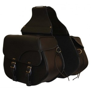 Leather Throw Over Saddle Bags