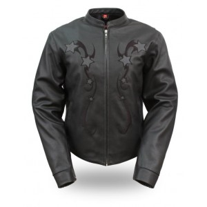 Women's Blacked Out Braided Riding Jacket
