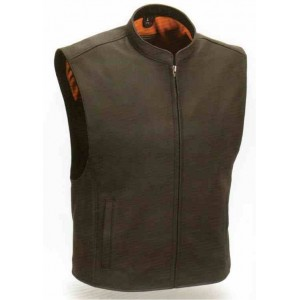 Men's Zip Front Club Patch Vest
