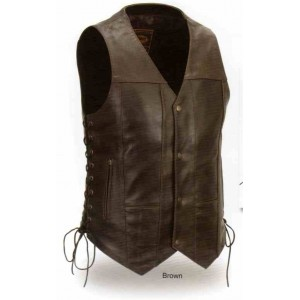 Men's 10 Pocket Vest in Brown