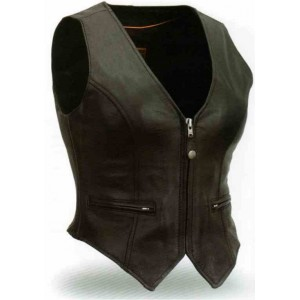 Women's Form Fitted Vest with Self Adjusting Sides