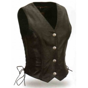 Women's Braided Buffalo Nickel Vest
