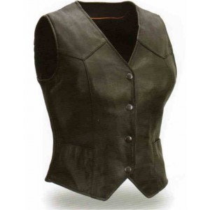 Women's Light Weight Leather Vest
